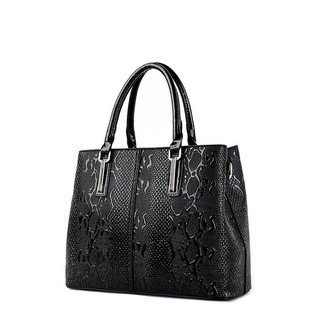 Serpentine Large Leather Tote Bag 2017 Luxury Women Shoulder bags Fashion Lady's Bag Brand Handbag Vintage Messenger Bag