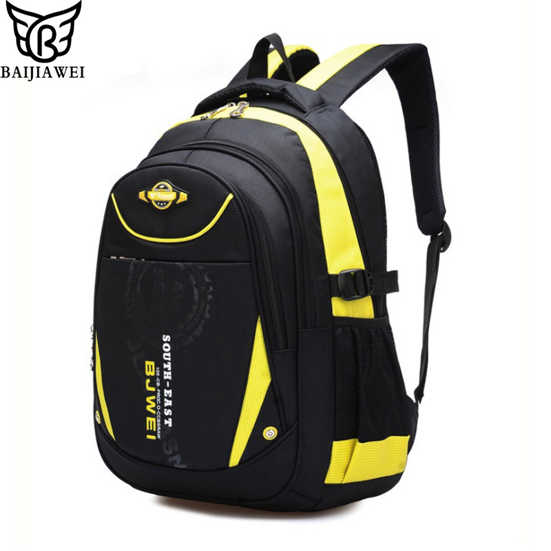 BAIJIAWEI 2017 New Children School Bags For Girls Boys Children Backpack In Primary School Backpacks Mochila Infantil Zip цена и фото
