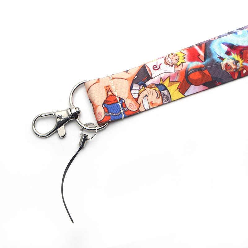 V174 Naruto Del Fumetto Anime Portachiavi Portachiavi Id Badge Holder Id Pass Del Telefono Mobile USB Badge Holder Chiave Della Cinghia