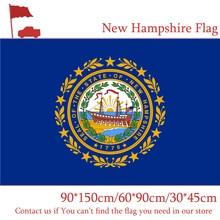 New Hampshire State Flag American 90*150cm 60*90cm Digital Printing 30*45cm Car Activities Decorative