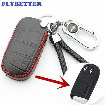 Flybetter Cuero auténtico cubierta del caso clave para Chrysler 300 ...