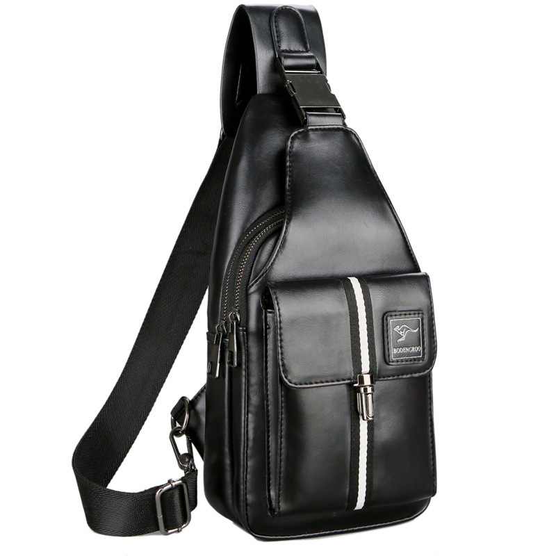 HNXZXB 2018 Famous Brand Male Bag Men's Messenger Bags Chest Back Pack Handbag Cross Body s High Quality Waterproof Leather