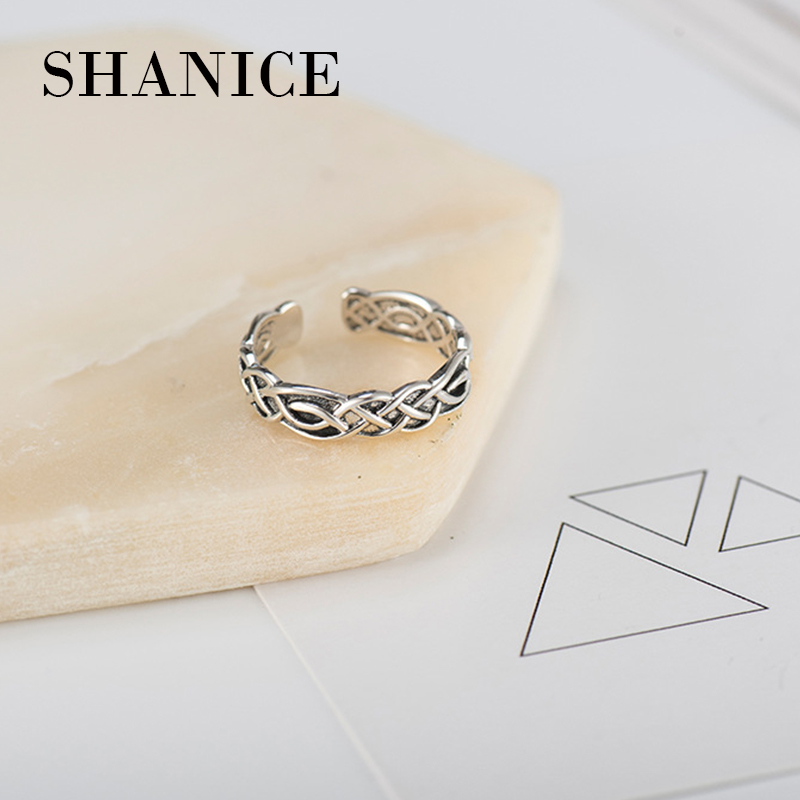 SHANICE 925 sterling silver chain rings for women fashion opening silver ring anel feminino bague aneis silver 925 jewelry