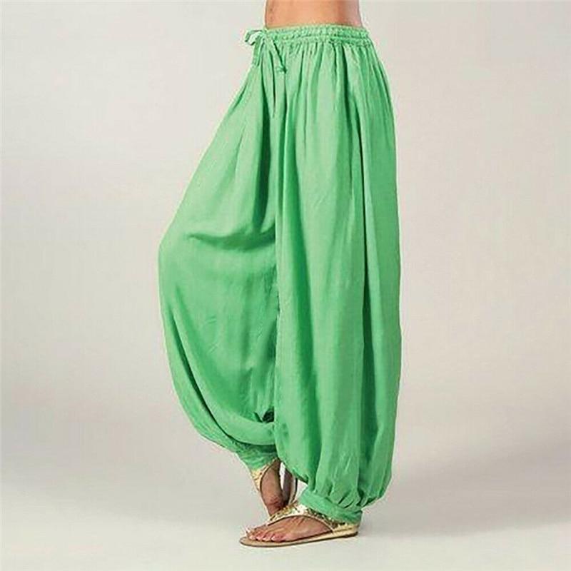 New Fashion Women's Casual Low Waist Harem Pants Solid Color Loose Trousers Ladies Sport Long Pants Dance Fitness Wear