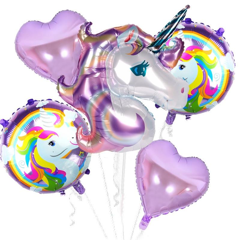 Taoqueen Cartoon Hat Birthday Party Decor Kids Unicorn Balloons My Little Horse Party Supplies Balloons Set Hat