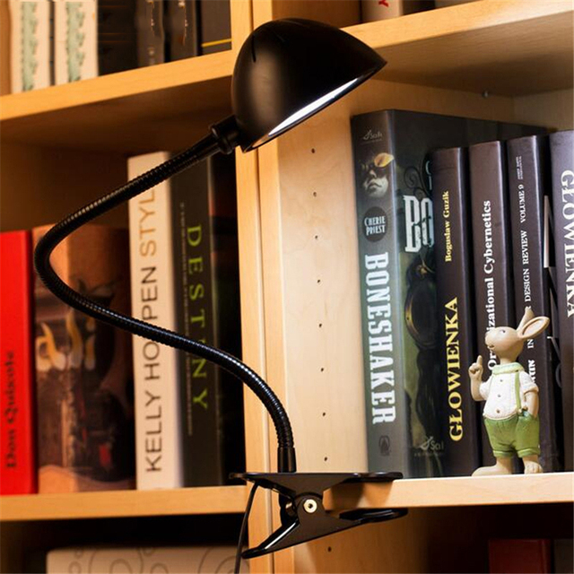 Flexible USB Rechargeable Clipper Clip on Adjustable LED Lamp Eye Protection Reading Light Desk Table Lamp Night Light