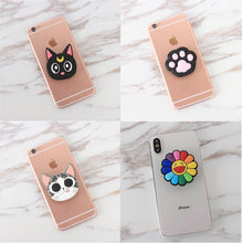 Expanding air bag socket 3D Phone Holder Universal Smartphone ring mobile  holder Cartoon paw Phone Bracket for iPhone Xiaomi fbd73af04781