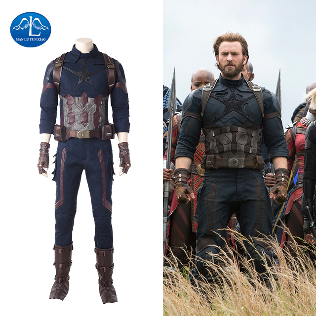 New 2018 Movie Avengers Infinity War Captain America Cosplay Costume Men Halloween Captain America Costume For  sc 1 st  AliExpress.com & New 2018 Movie Avengers Infinity War Captain America Cosplay Costume ...