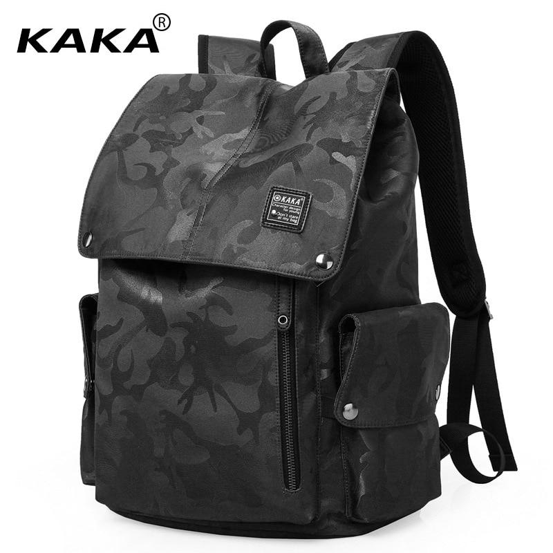 KAKA Brand Korean Style Unisex Men Fashion School Backpacks String Women Casual 15 6 Laptop Backpacks