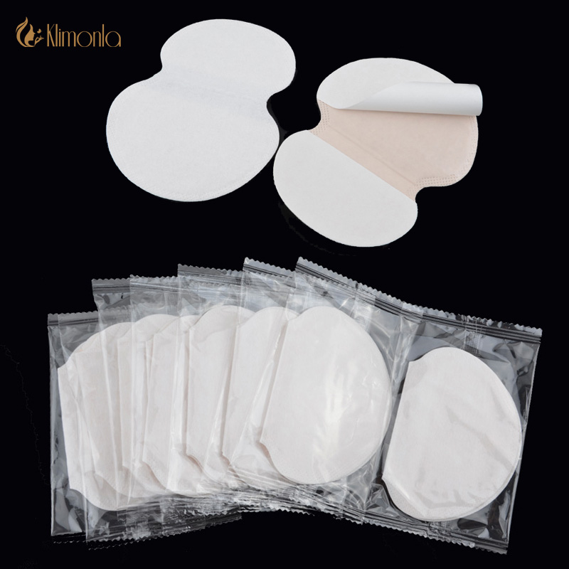 100X ( 50 Pairs ) Summer Deodorants Cotton Pads Underarm Armpit Sweat Pads Dress Disposable Stop Sweat Shield Guard Absorbing