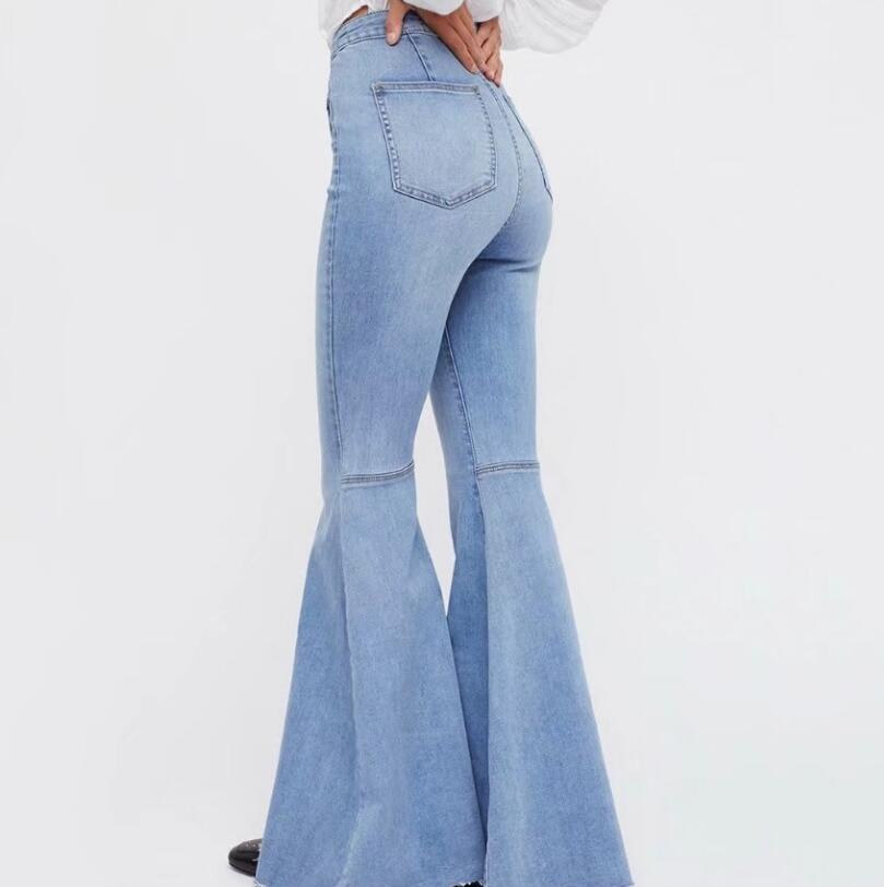 f51b0afd3a3f 2019 2018 Spring Autumn Wide Leg Distressed Flared Jeans Women ...