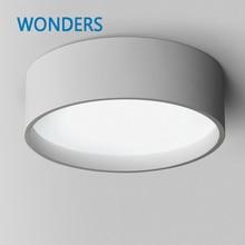 Modern LED Dimerable Ceiling Lighting Matt Black and White Dia 39 60cm Kitchen Living Room Ceiling