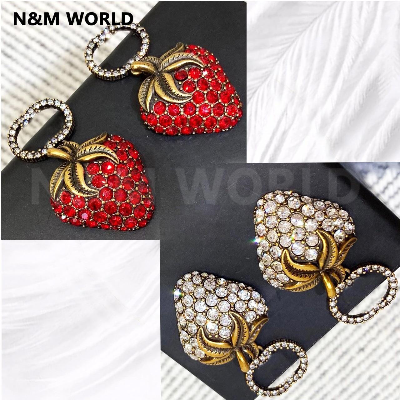Women Girl Fashion Jewelry New 2019 Cute Strawberry Jewelry Earrings Christmas Party Earing Dangle Earring