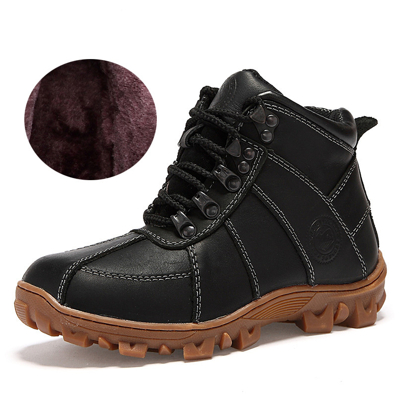 Kids Boots Boys Boots Winter Kids Shoes Boys children Leather Shoes Fashion Motorcycle Boots Black Brown Size 31-36 25 40 size usb charging basket led children shoes with light up kids casual boys