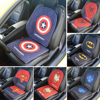 Car Seat Cushion Buttocks Chair Back Cushion Pads Auto Decor protector For Captain America Surperman Spiderman Gifts