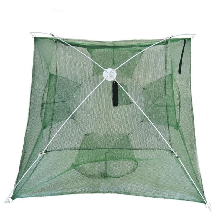 Buy fishing net shrimp cage pe foldable for Fish trap net