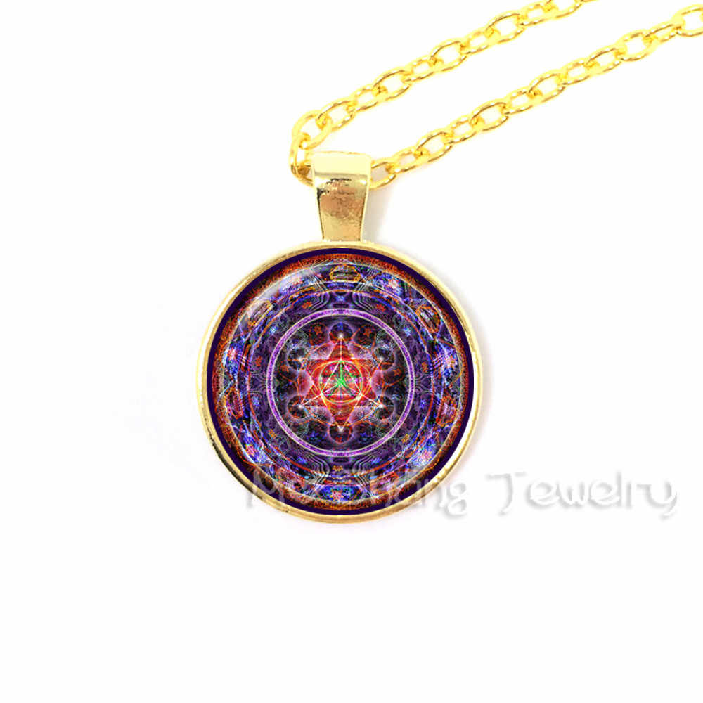 Magic Circle of Solomon Pendant Seal of Solomon Necklaces Sacred Geometry  Kabbalah Necklace Glass Dome Occult Wiccan Necklace