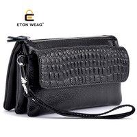High Quality Split Leather Solid Women Handbag High Capacity Lady Clutch Female Mini Shoulder Bags Design