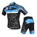 Мужская велосипедная одежда Lixada  комплект из Джерси  дышащая быстросохнущая велосипедная рубашка с коротким рукавом и гелевые шорты с подк...