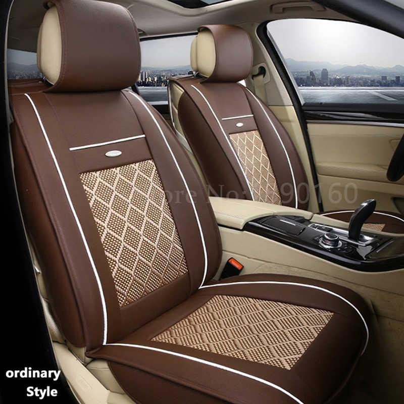 Tampas de assento de carro couro respirável para volvo s60l v40 v60 s60 xc60 xc90 c70 s80 s40 acessórios do carro estilo 3d preto