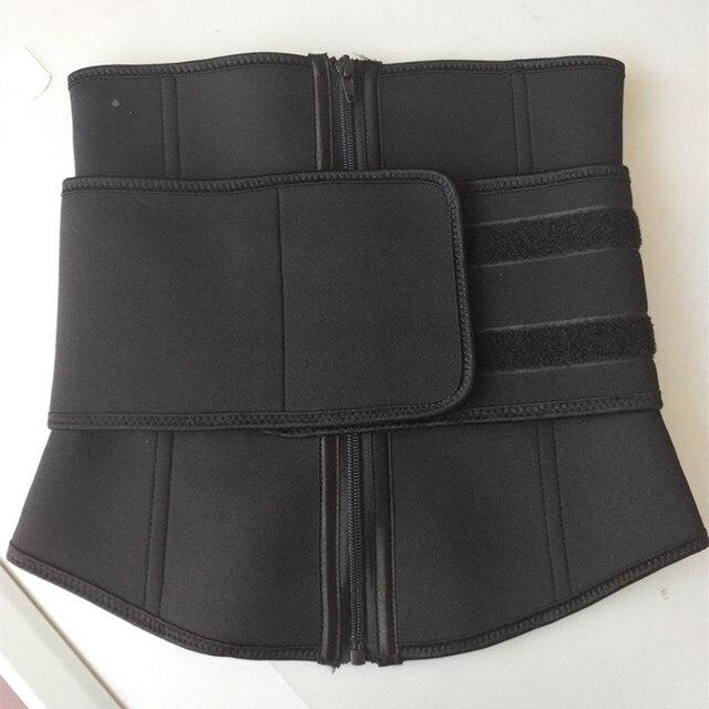 Plus Size Abdominal Belt High Compression Zipper Neoprene Waist Cincher Corset Underbust Body Fajas Sweat Waist Trainer 1