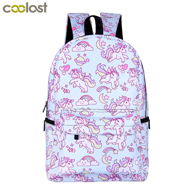 Cartoon Unicorn Backpack For Teenage Girls Children School Bags Kids