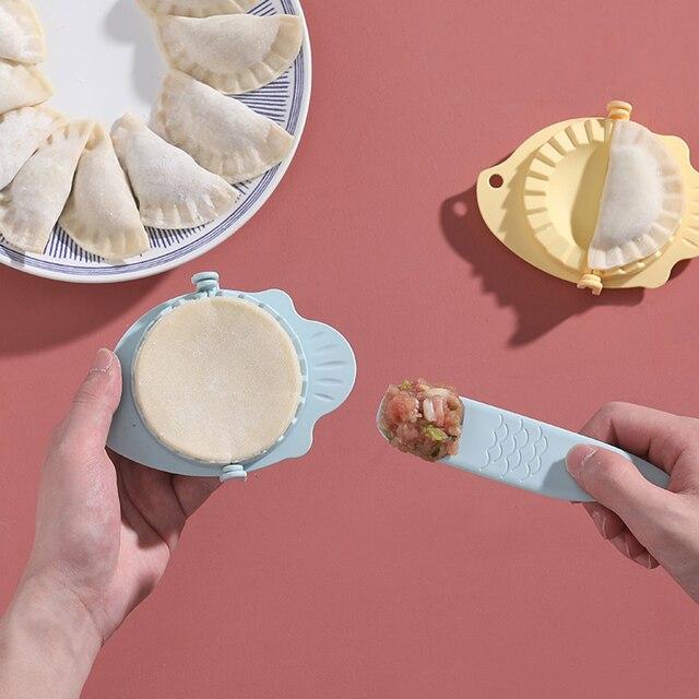 2019 Nova DIY Bolinhos Jiaozi Criador Ferramenta Palha de Trigo Pierogi Grampos de Molde Do Bolinho Molde de Cozimento Moldes Acessórios de Cozinha Pastelaria