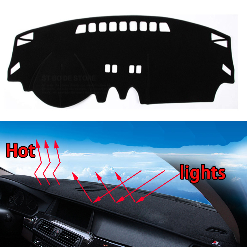 Car dashboard Avoid light pad Instrument platform desk cover Mats Carpets Auto accessories car styling for nissan Qashqai 08-16 special car trunk mats for toyota all models corolla camry rav4 auris prius yalis avensis 2014 accessories car styling auto