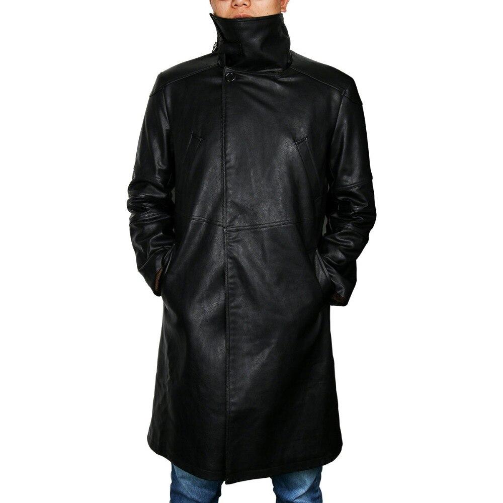 2049 лопасти бегуна, Тренч, костюм для косплея, 2017, куртка Райана Гослинга, верхняя одежда, длинное пальто из искусственной кожи, униформа на Хэллоуин, Новинка - 4