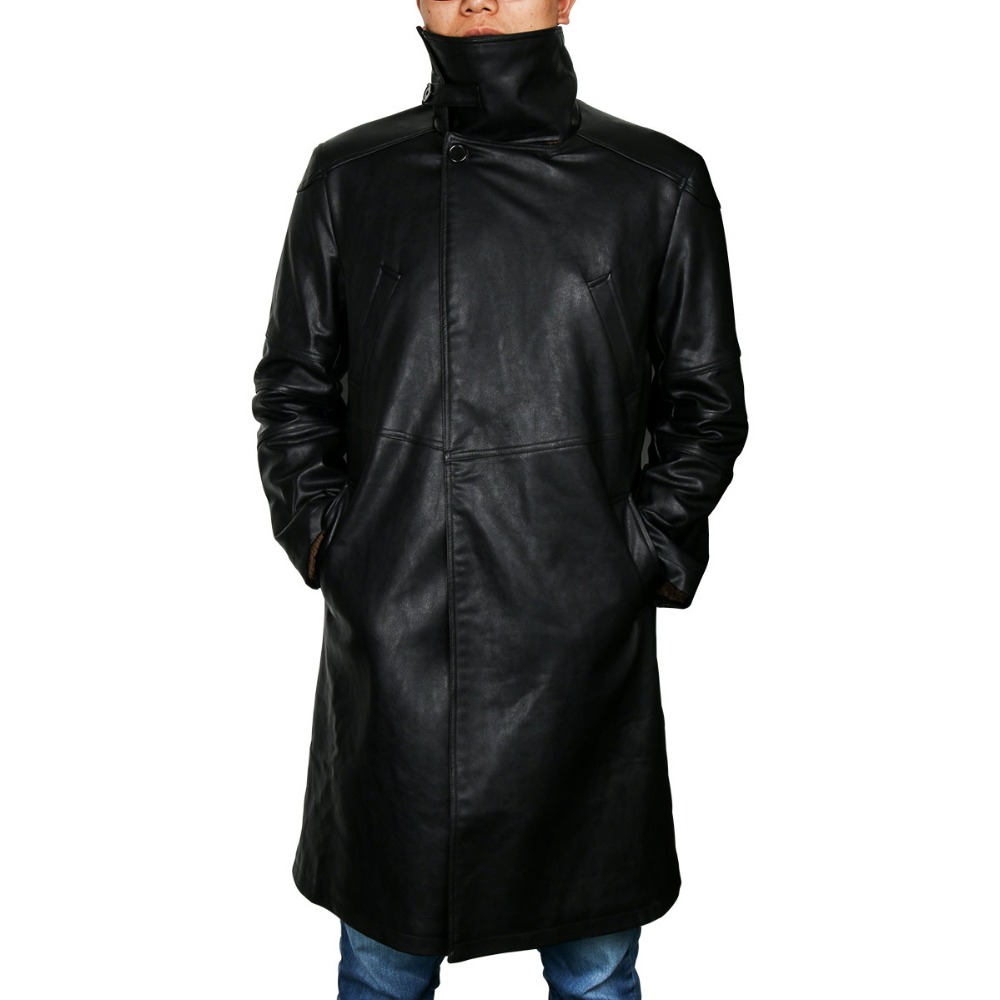 Image 4 - Blade Runner 2049 Officer K Trench Cosplay Costume 2017 Ryan Gosling Jacket Outwear Long PU Leather Coat Halloween Uniform New-in Movie & TV costumes from Novelty & Special Use