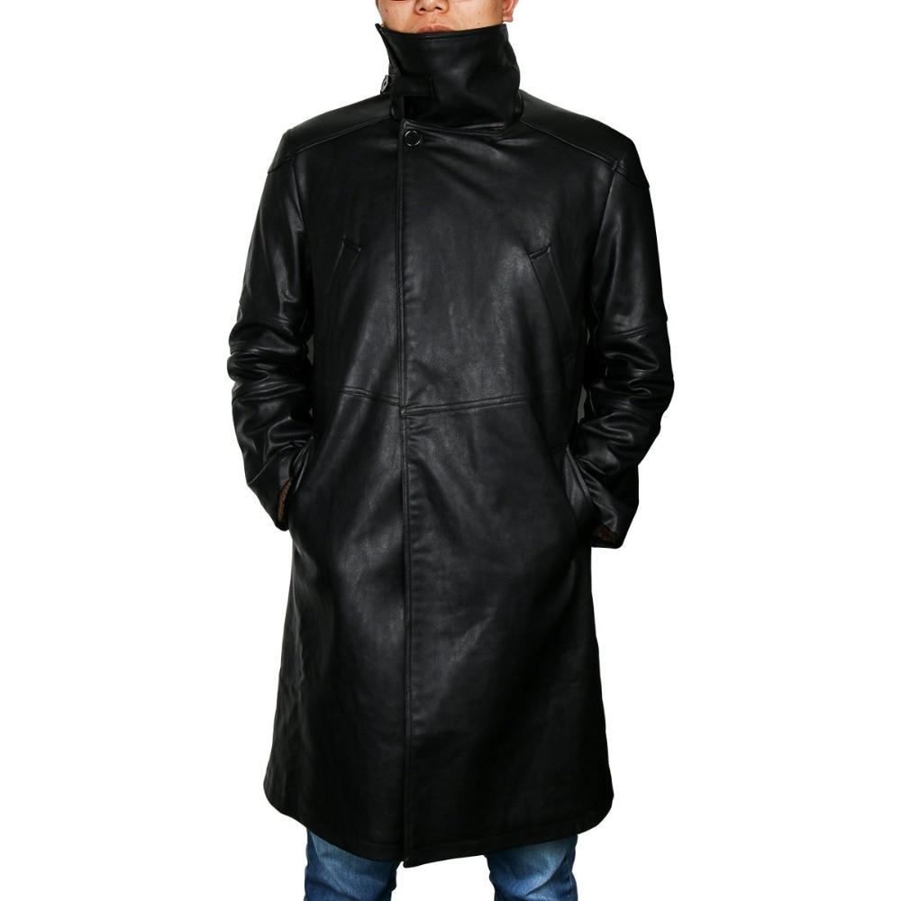 Blade Runner 2049 Offizier K Graben Cosplay Kostüm 2017 Ryan Gosling Jacke Outwear Lange PU Leder Mantel Halloween Uniform Neue - 4