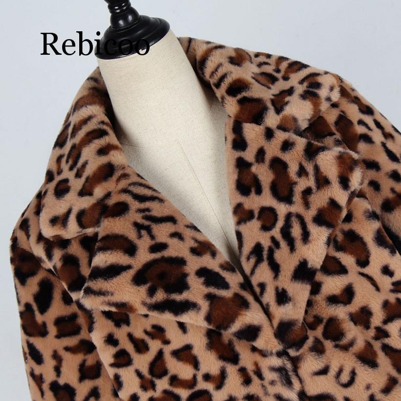 Autumn and winter jacket 2019 women 39 s faux fur leopard coat plush cotton jacket women 39 s loose coat women 39 s jacket jacket in Faux Fur from Women 39 s Clothing