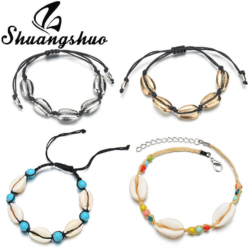 Shuangshuo Bohemia Bracelet Women Shell Jewelry Rope Bracelets for Femme Seashell pulseras 2019 Cowrie Shell Beach Jewellry
