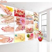 Shinehome-3 d Wallpaper for Livingroom 3d Wall SPA Nail Salon Cosmetic Massage