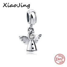hot deal buy new 925 sterling silver angel wings charms beads fit original european charm bracelet beads diy jewelry making for women gifts