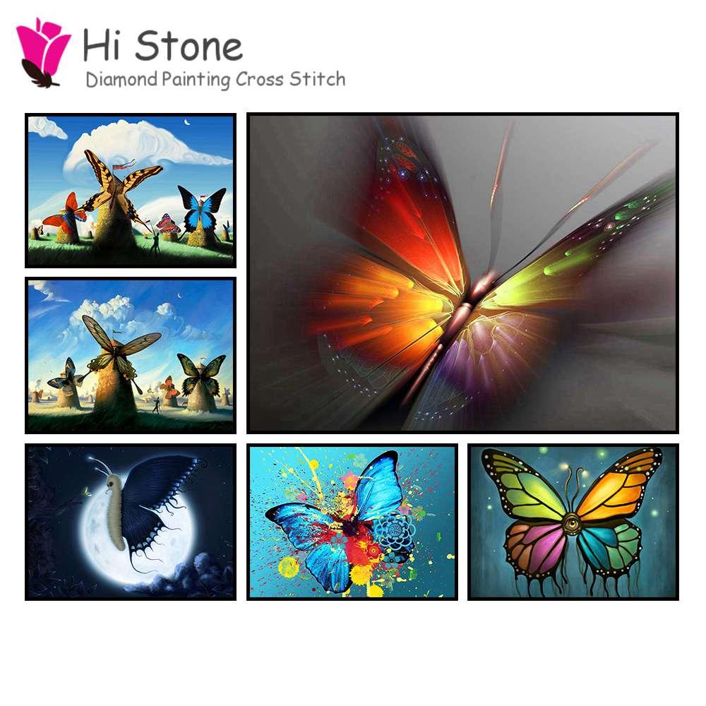 5D, DIY, алмаз живопись, мультфильм бабочка, подарки, алмаз вышивка, вышивка крестиком, полный квадратный moasic