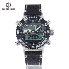 Men's watches top luxury brand watches LED dual display military sports leisure style men's favorite style