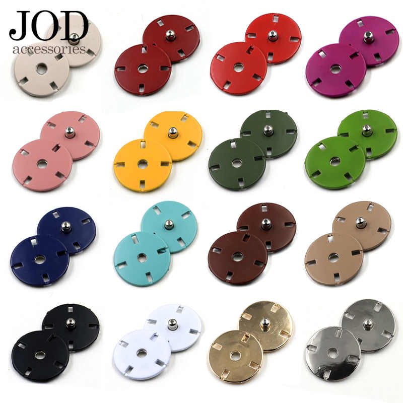 5 uds 10/12/15/18/21/23mm Botón de presión de Metal de colores para sujetadores de ropa botones de presión Stud Coat accesorios de costura