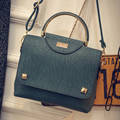 Fashion Women Party Rivet Handbags High Quality Pu Leather Green Sequined top-handle Shoulder Crossbody Bags Leisure Clutch Q79