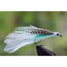 Tigofly 24 Pcs Discount Fly Top Quality Hair Wing Salmon Trout Fly Saltwater Fly Fishing Flies Lures