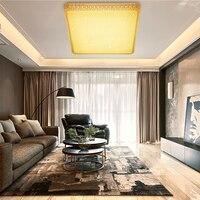 Квадратный потолочный светодиодный свет современный Дизайн 60 Вт Акрил светодиодный потолочный светильник теплый белый светильник домашни