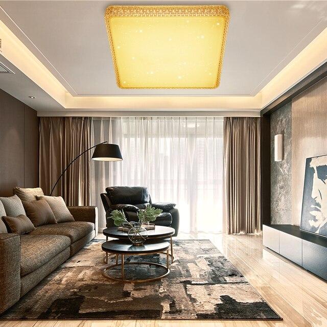 Carre Lampe De Plafond Led Design Moderne 60 W Acrylique Plafonnier Blanc Chaud Luminaire Interieur Maison Chambre Cuisine