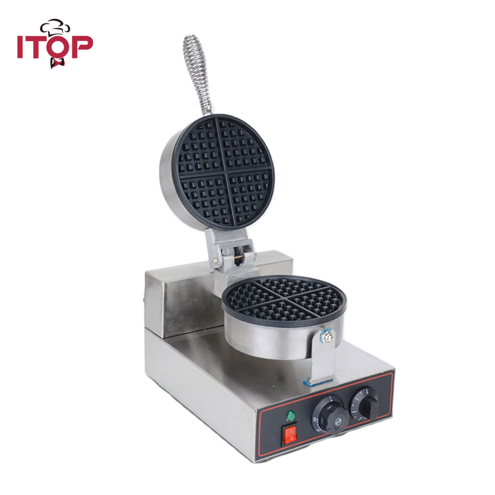 ITOP Commercial Waffle Makers Electric egg bubble waffle maker machine Nonstick eggettes puff bubble egg cake oven все цены
