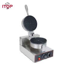 ITOP Commercial Waffle Makers Electric egg bubble waffle maker machine Nonstick eggettes puff bubble egg cake oven