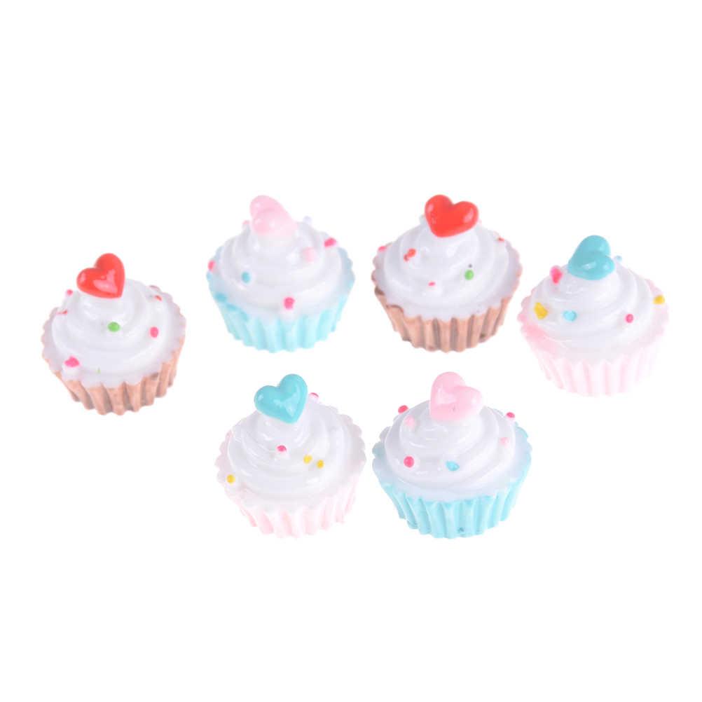 2 шт. куклы миниатюрные ролевые игрушки мини-игры еда Сердце Любовь Торт пончики конфеты для девочки BJD куклы
