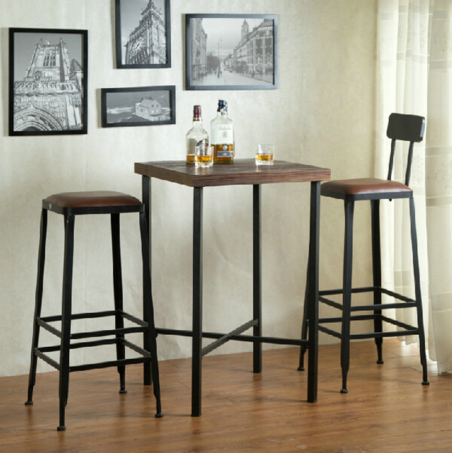 Charmant American Iron Chairs Wood Bar Stool High Bar Chairs Bar Starbucks Cafe  Lounge Chair Highchair Specials