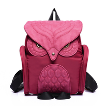 Модные Симпатичные Сова Рюкзак Для женщин мультфильм Школьные сумки для подростков Обувь для девочек нейлон Для женщин рюкзак в стиле панк на молнии сумка