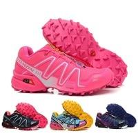 Salomon Speed Cross 3 CS Breathable Sneakers Zapatillas Breathable Solomon Climbing Athletic Sport Outdoor Women Hiking Shoes