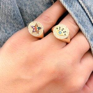 Женское Винтажное кольцо со Злым Глазом, обручальное кольцо золотого цвета, ювелирное изделие в турецком стиле