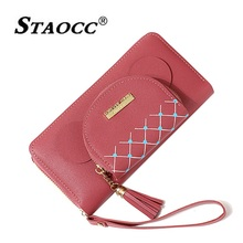 Cute Double Zipper Wallet Women Long Big Purse Student Wallet PU Multifunction Female Clutch Bag Phone Wallet Coin Purse Tassel цены